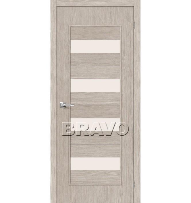 Дверь межкомнатная 3D-Graf «Тренд-23» Cappuccino остекление Сатинато белое