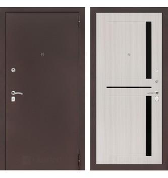 Входная дверь CLASSIC антик медный 02 - Сандал белый