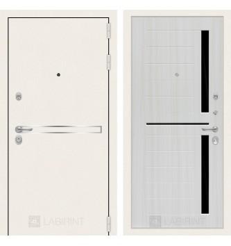 Лайн WHITE 02 - Сандал белый, стекло черное