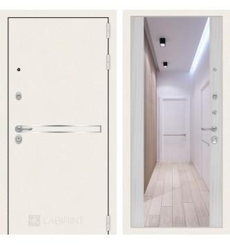 Лайн WHITE с широким зеркалом - Сандал белый
