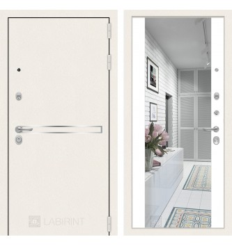 Лайн WHITE с широким зеркалом - Белый soft