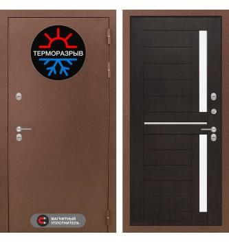 Входная дверь Термо Магнит 02 - Венге, стекло белое-copy