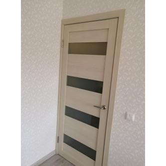 Дверь межкомнатная из эко шпона «Мастер 56001» Дуб натуральный