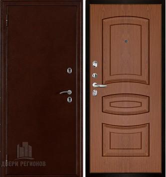 Дверь входная уличная Термо 3, цвет антик медь, панель - анастасия 3d цвет орех темный
