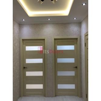 Дверь межкомнатная из эко шпона «Мастер 56002» мокко